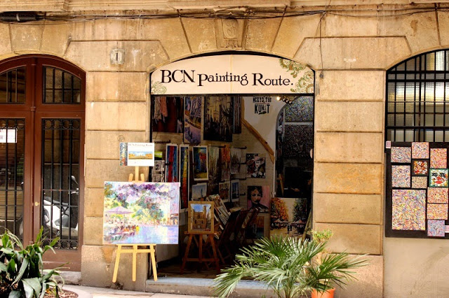 Barcelona Gothic Quarter streets art