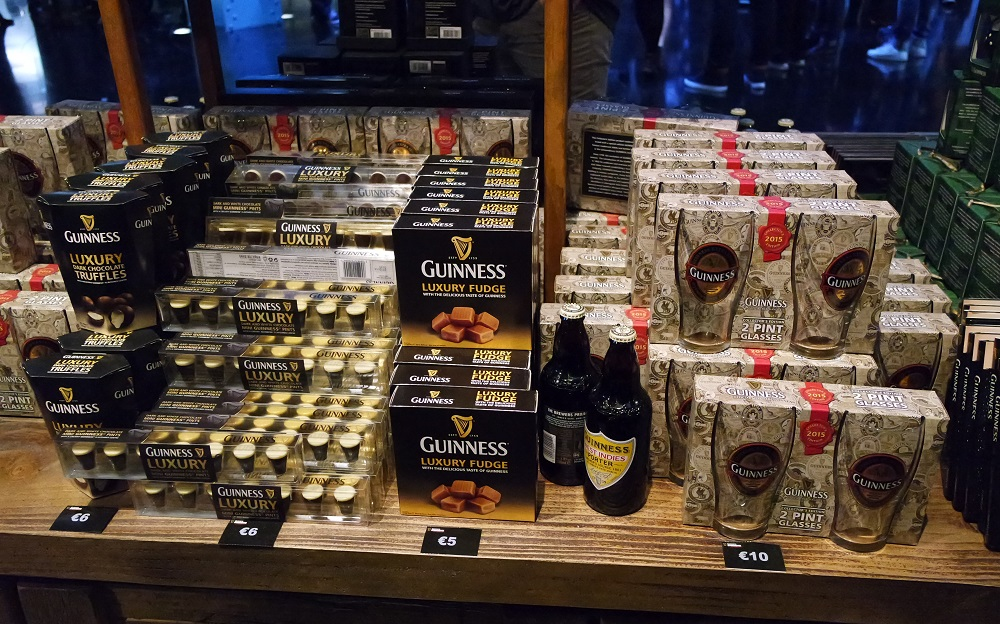 Dublin Guinness Storehouse Souvenir Shop