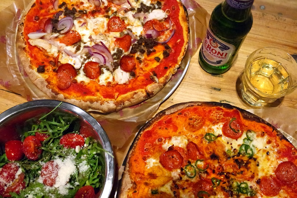 Pizza Union Spitalfields Liverpool Street cheap eats lunch