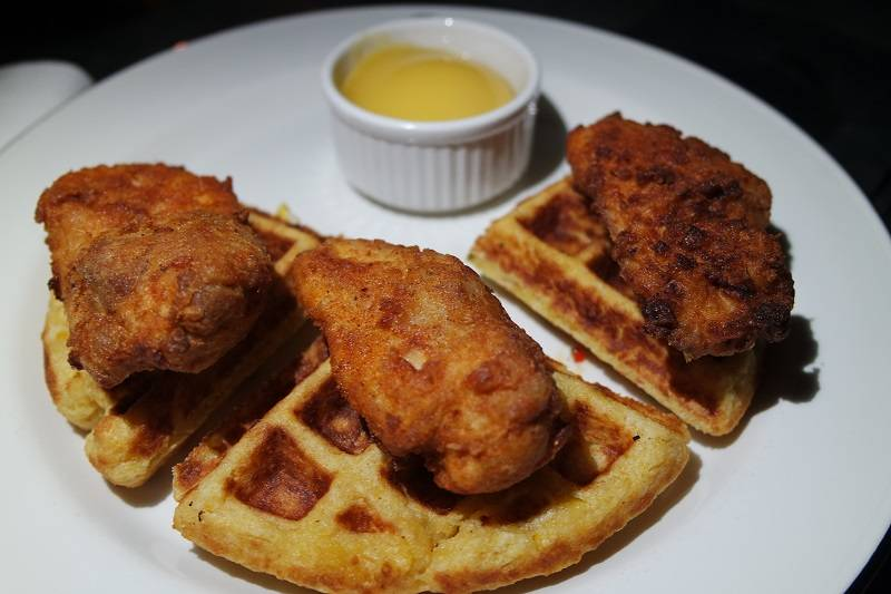 q grill southern fried chicken waffles