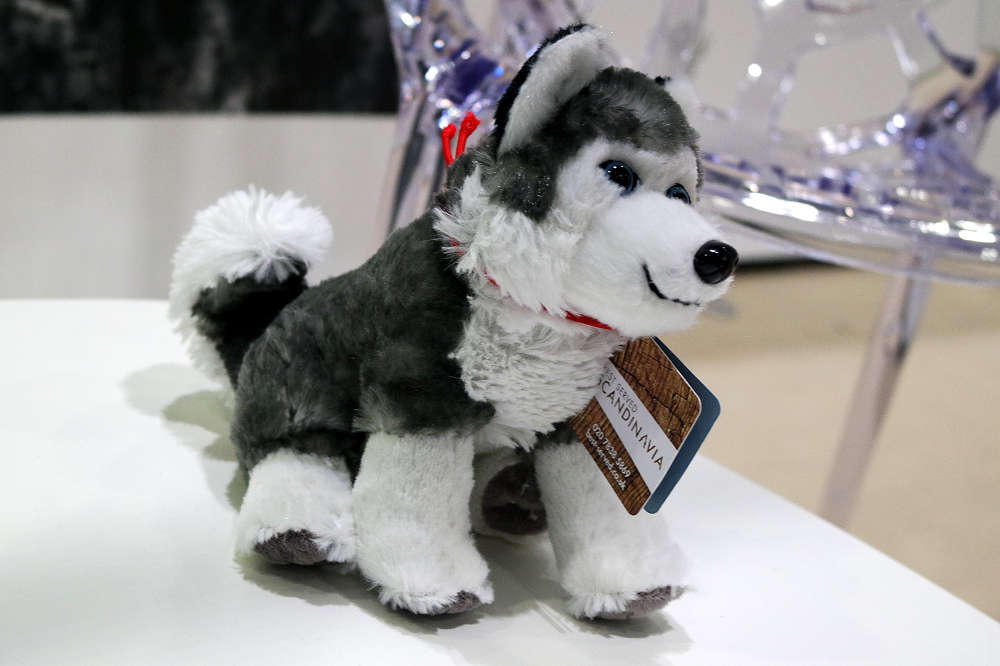 cute lil husky dog toy