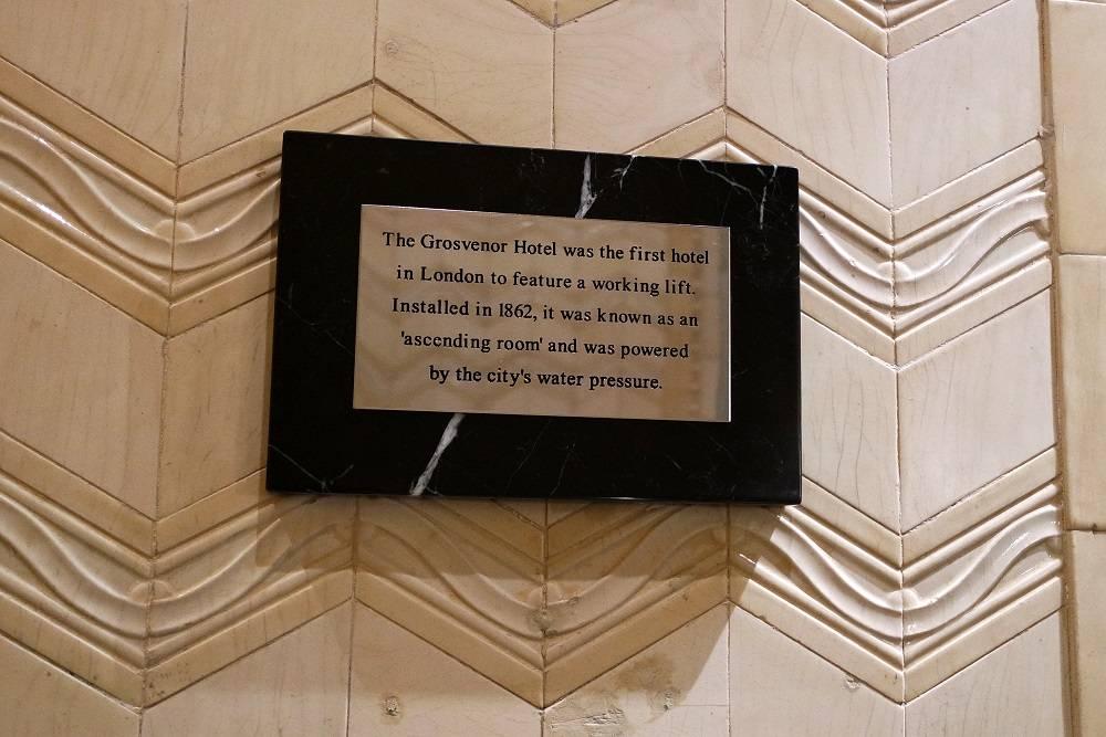 Grosvenor Hotel Victoria lift history