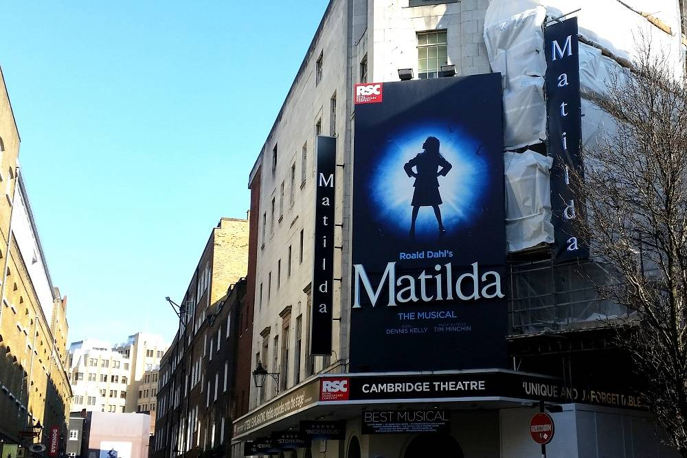 Matilda The Musical Cambridge Theatre London