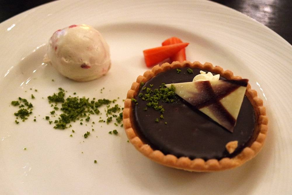 The Grosvenor Arms Chocolate Tart