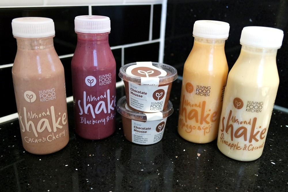 The Living Food kitchen almond shakes raw desserts