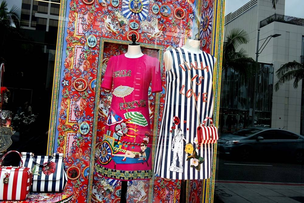 Beverly Hills Rodeo Drive designer shopping