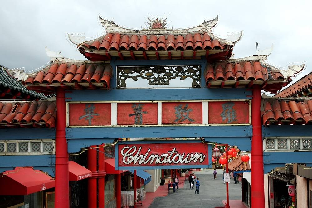 Los Angeles Chinatown entrance