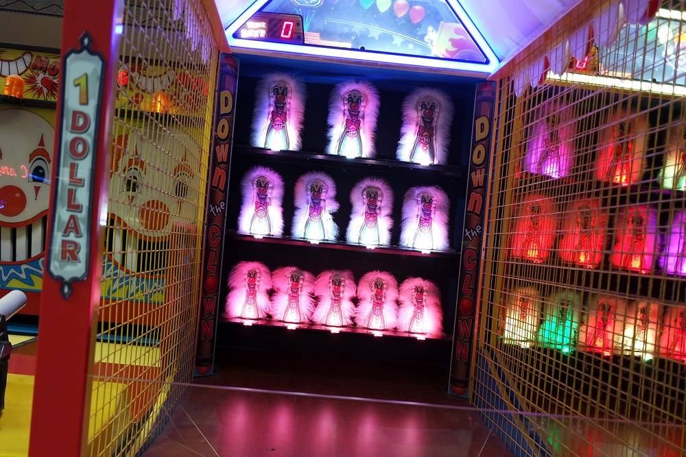 Santa Monica Pier playing arcade games