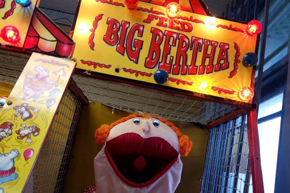 Santa Monica pier Big Bertha arcade game