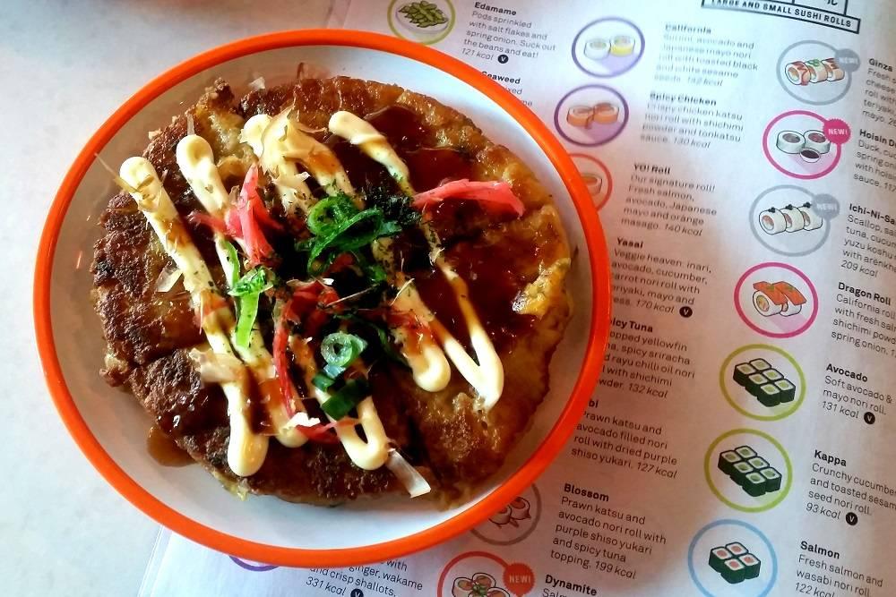 Yo Sushi new menu Okonomiyaki