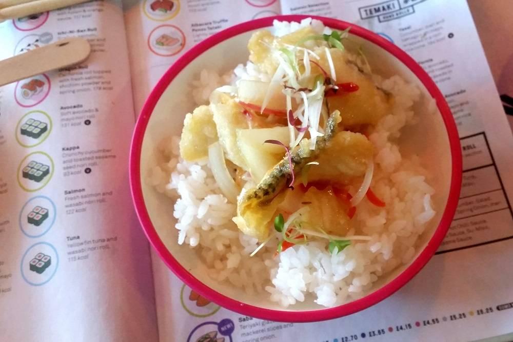 Yo Sushi new menu Seabass Nanbanzuke