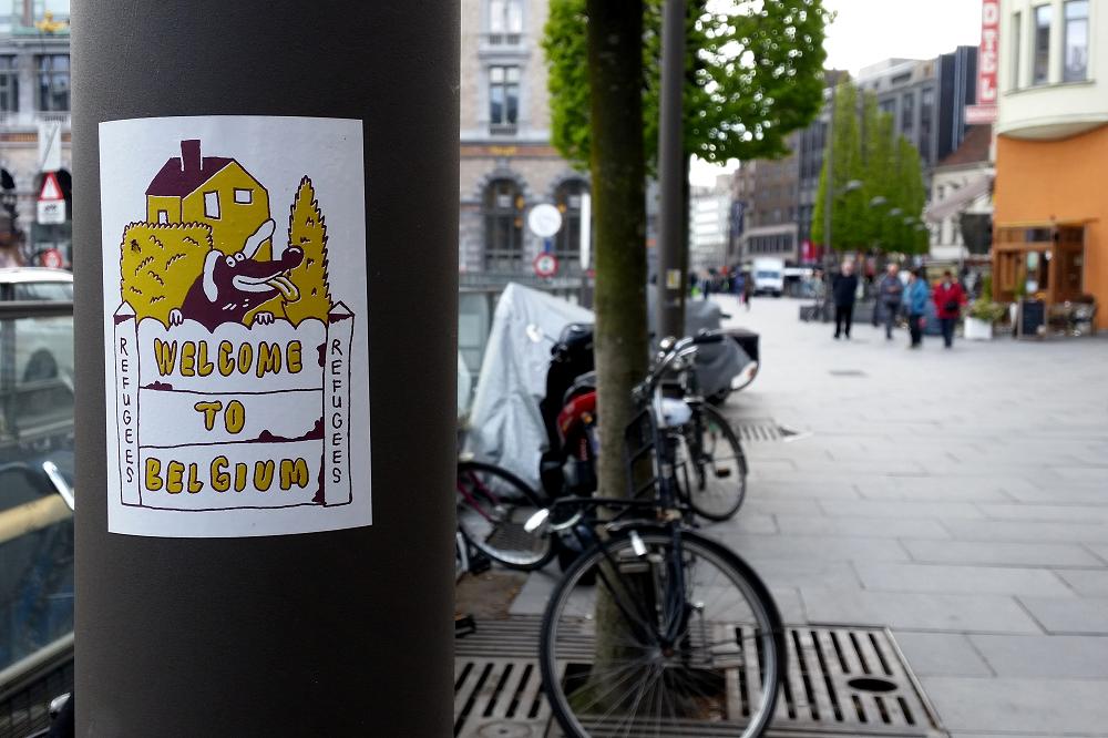 Antwerp Refugees Welcome Artwork