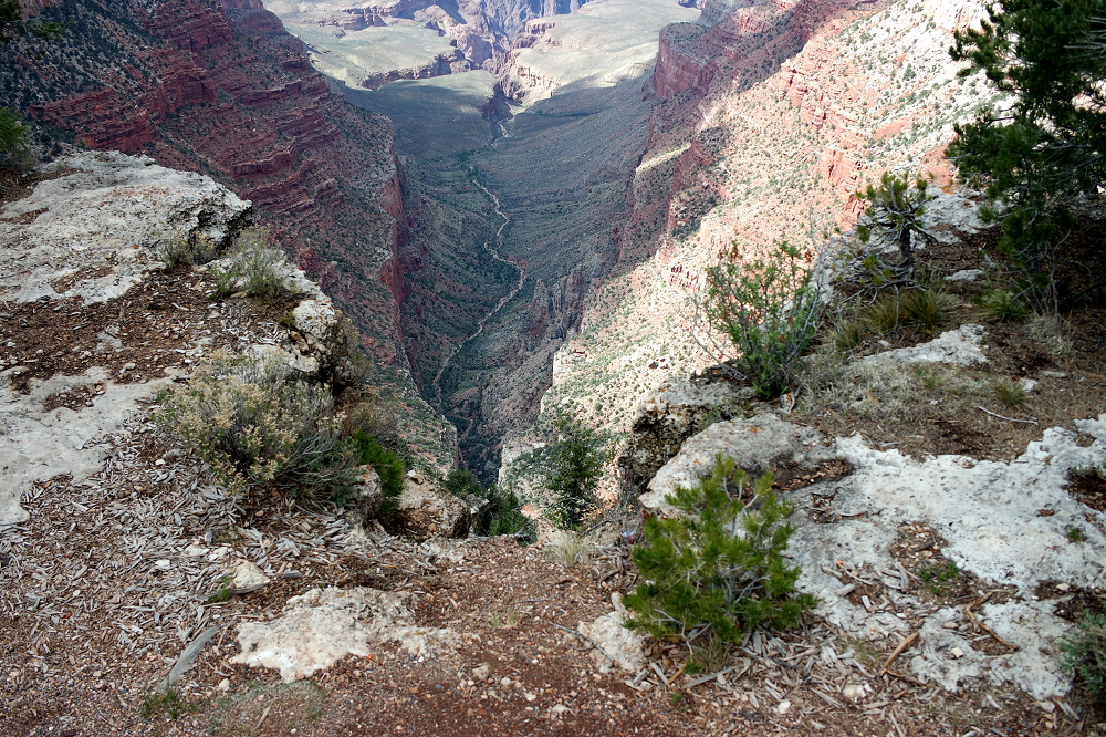 Grand Canyon looking down