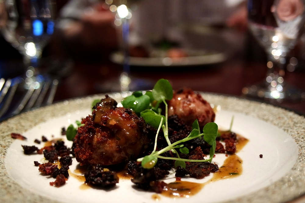 Lamb and Black Pudding Faggots at Reform Social and Grill, London