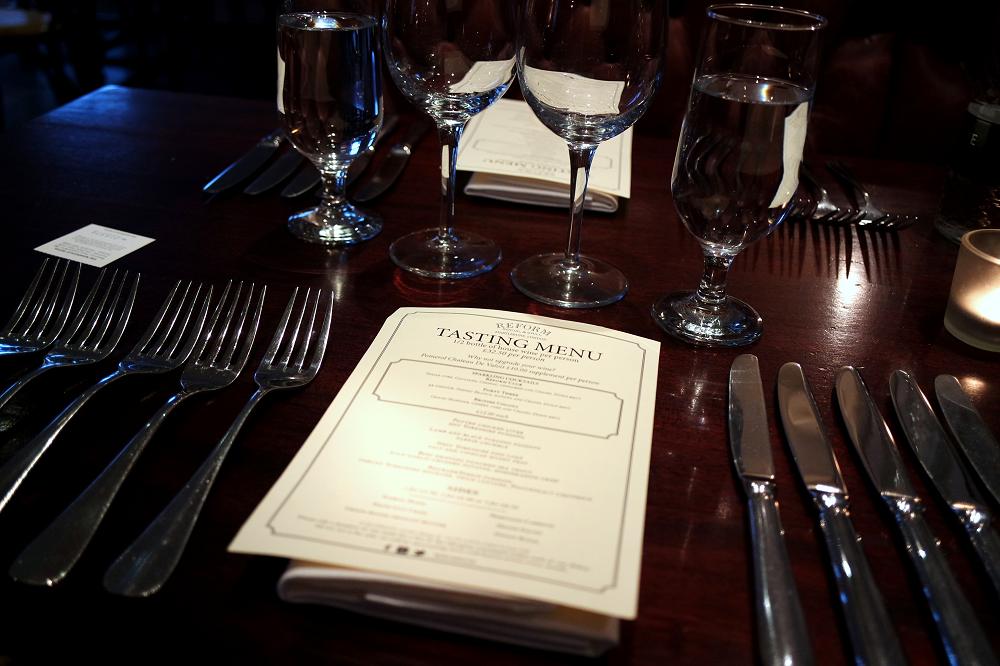 Tasting Menu at Reform Social and Grill, London