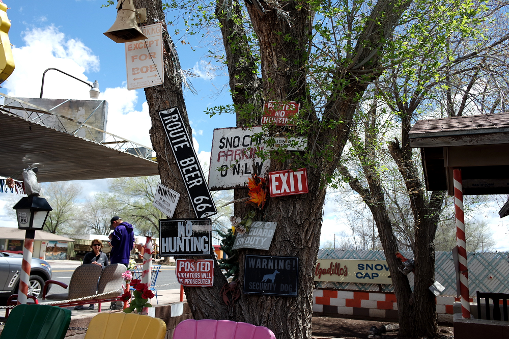 Route 66 Delgadillos Snow Cap signs