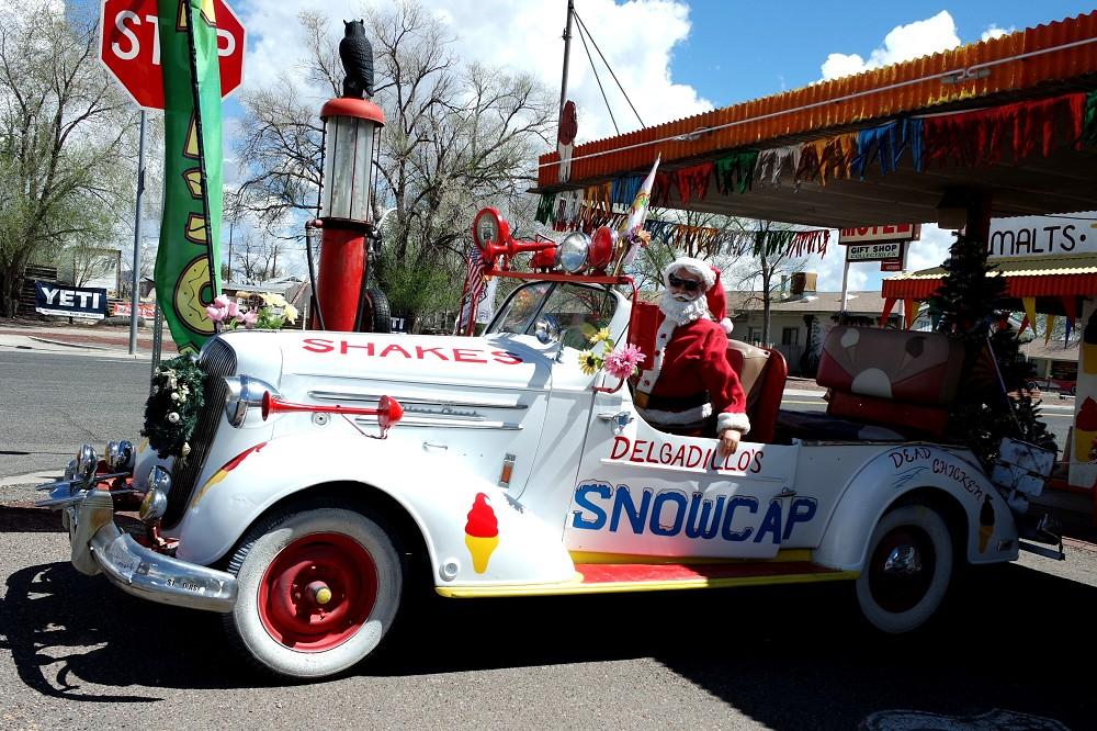 Route 66 Delgadillos Snow Cap car