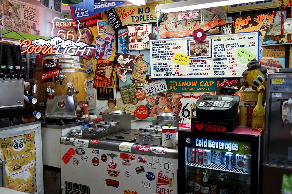 Route 66 Delgadillos Snow Cap diner