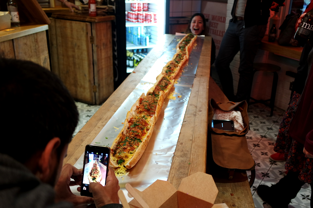 The Bowler London Giant Meatball Sub