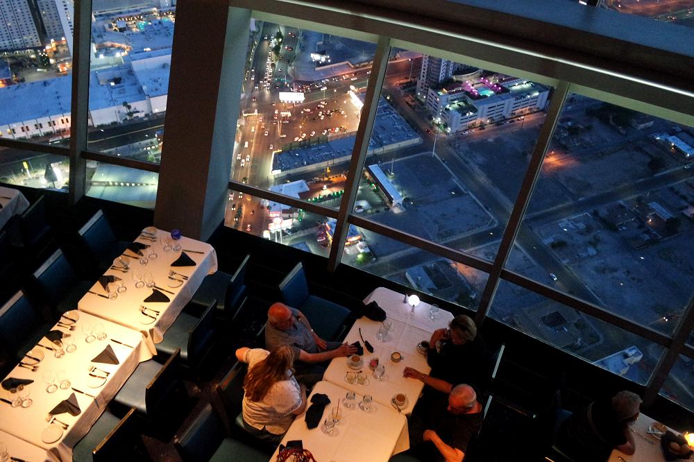 Vegas Stratosphere rotating restaurant