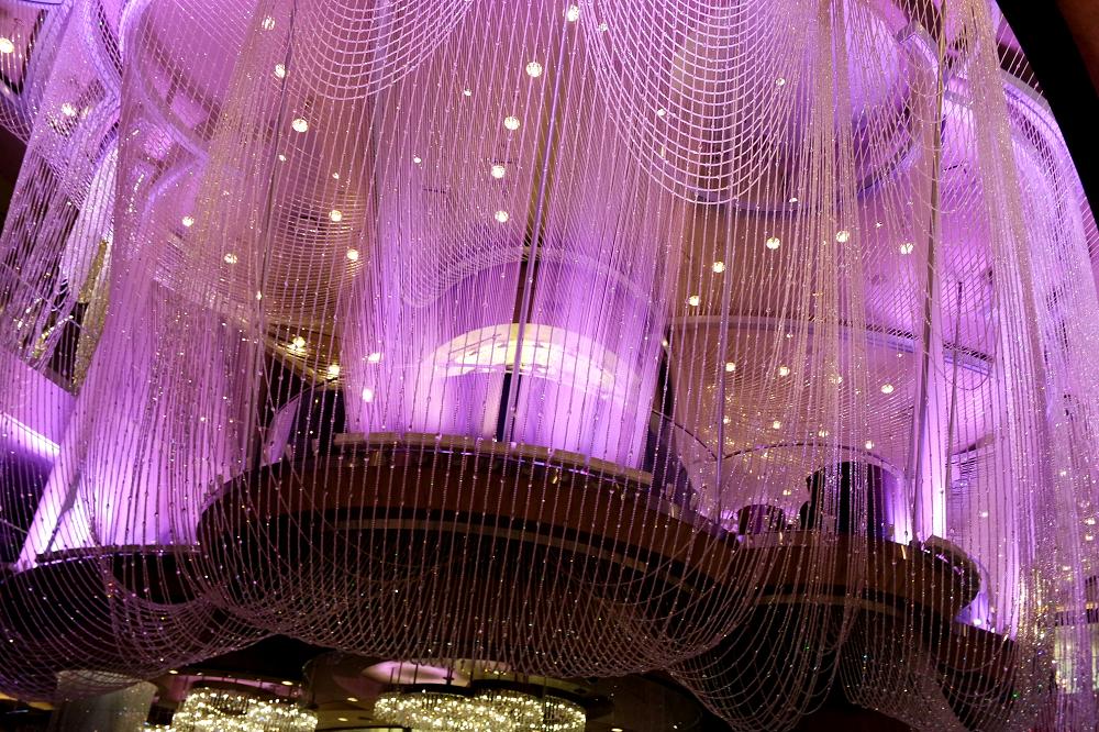 Vegas casino purple chandelier