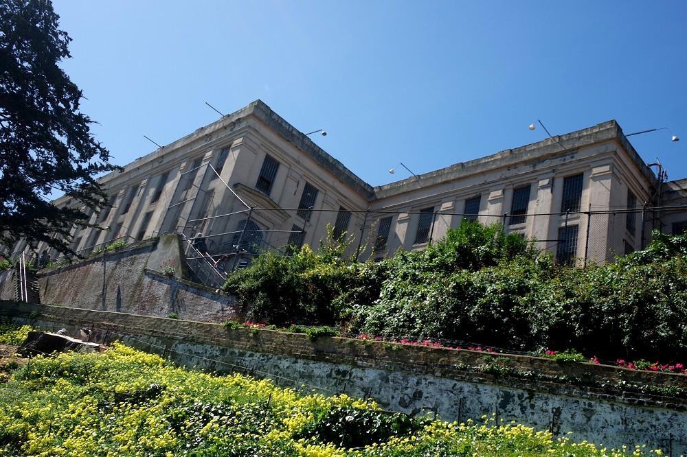 Alcatraz Island prison buildings