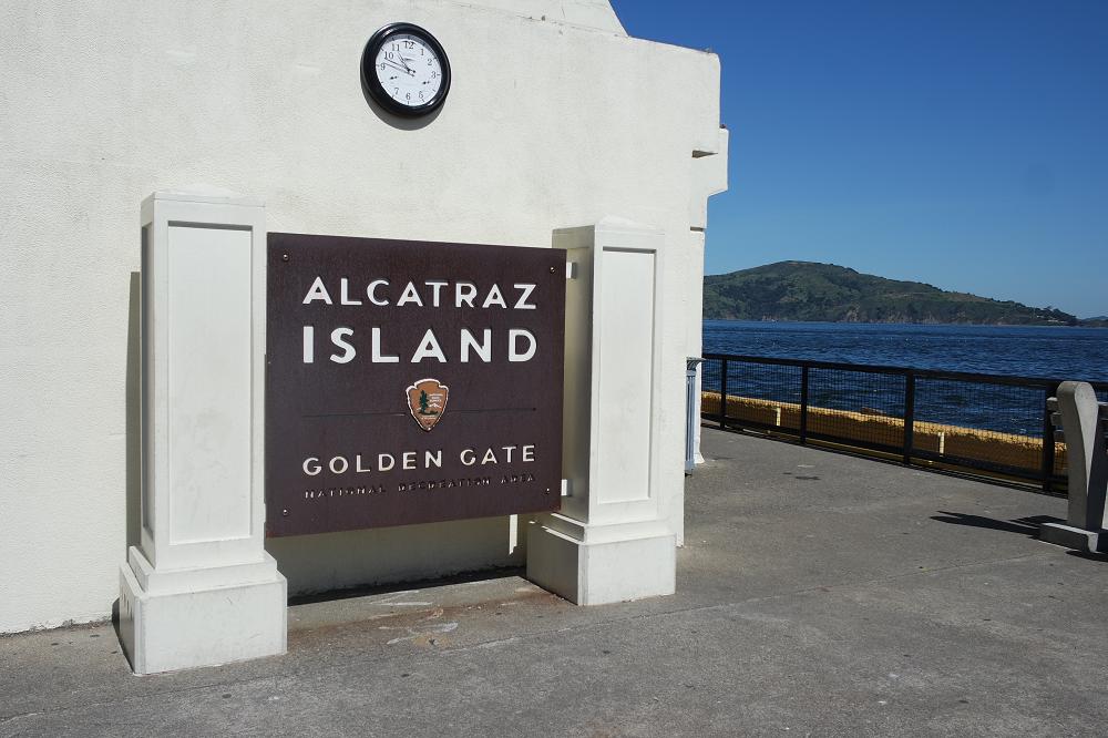 Alcatraz Island sign