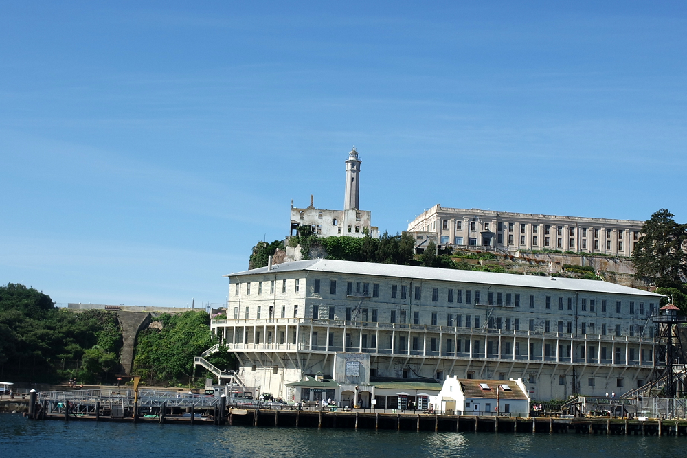 Alcatraz Island view from boat