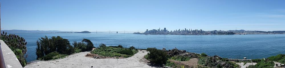 Alcatraz Tour Outside Panorama