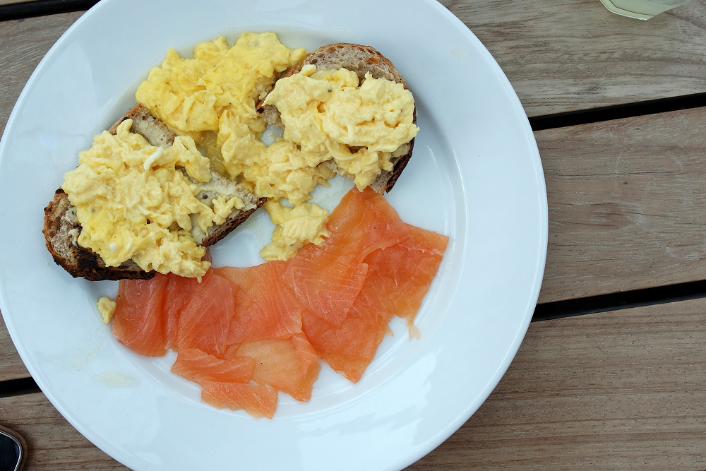 Boundary Roof Terrace London Smoked Salmon and Scrambled Egg