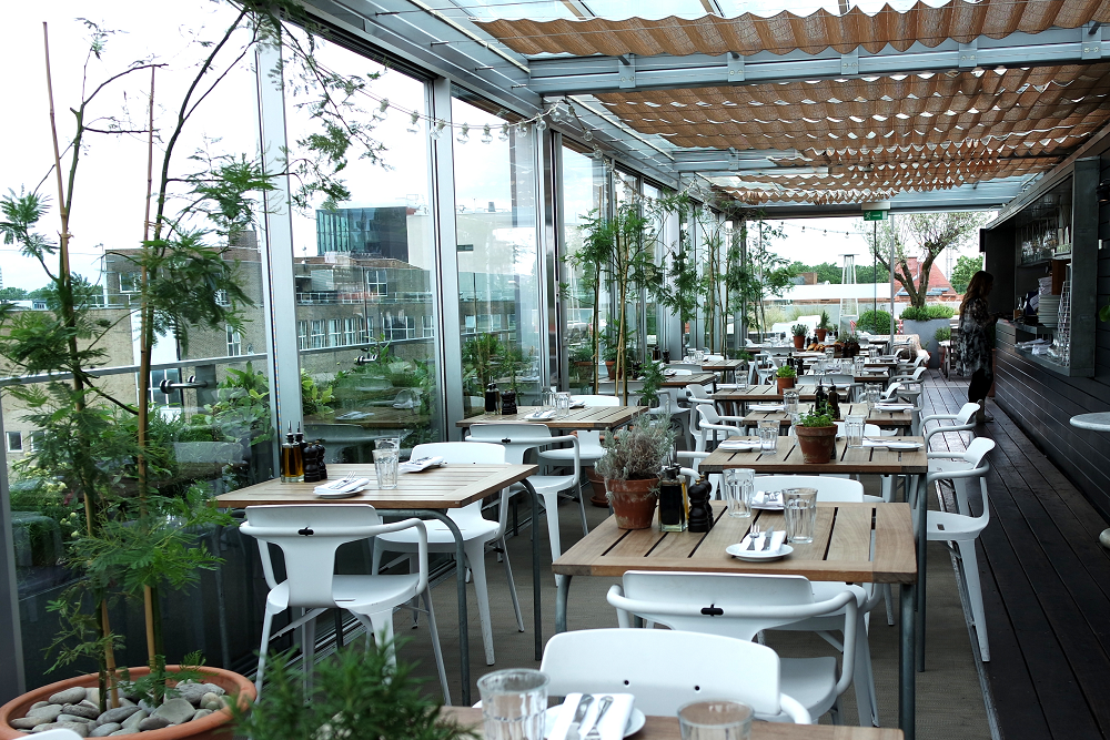 A rooftop breakfast with farfetch mini adventures for The terrace bar and food