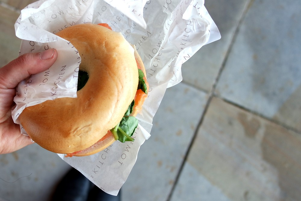 Picnic With Mercure Salmon Bagel from Tom's Kitchen, Somerset House