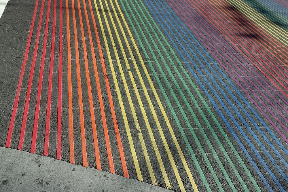 Rainbow Crossing, Castro District, San Francisco