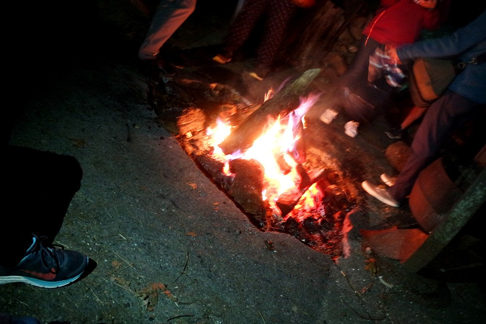 Yosemite Bug Lodge camp fire