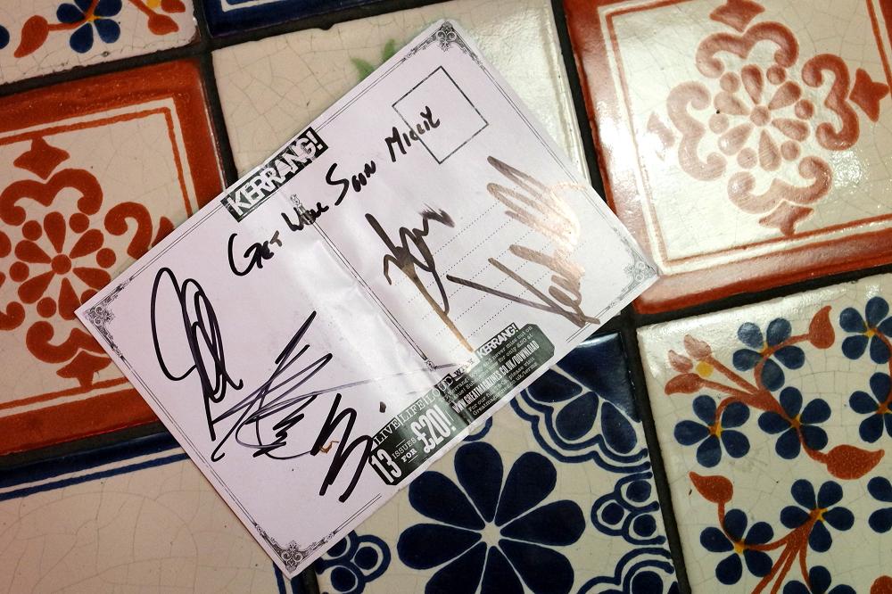 Breaking Benjamin autographs