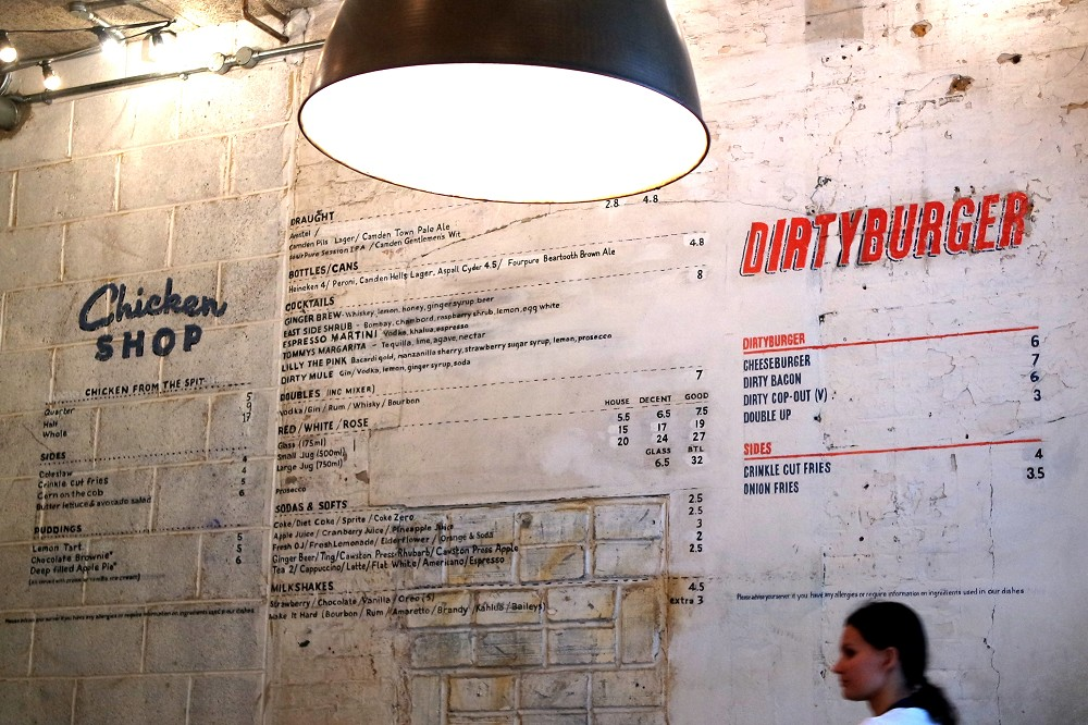 Chicken Shop x Dirty Burger Whitechapel