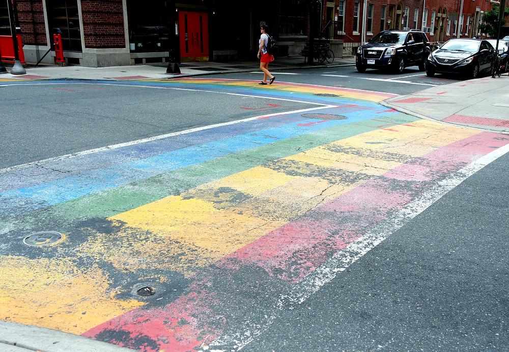 Philadelphia Rainbow Crosswalk