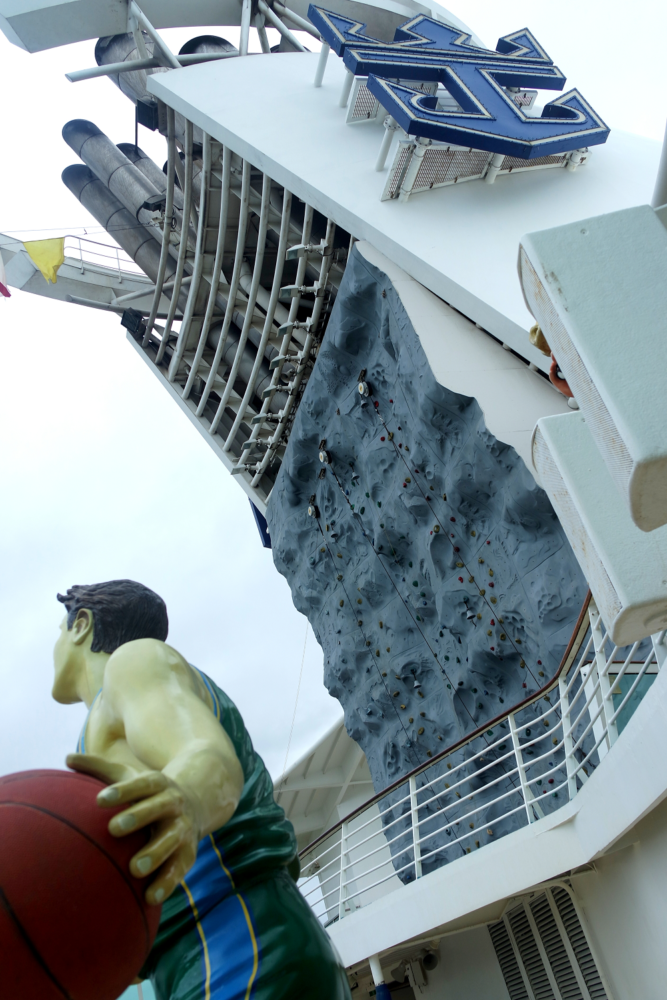 Navigator of the Seas climbing wall