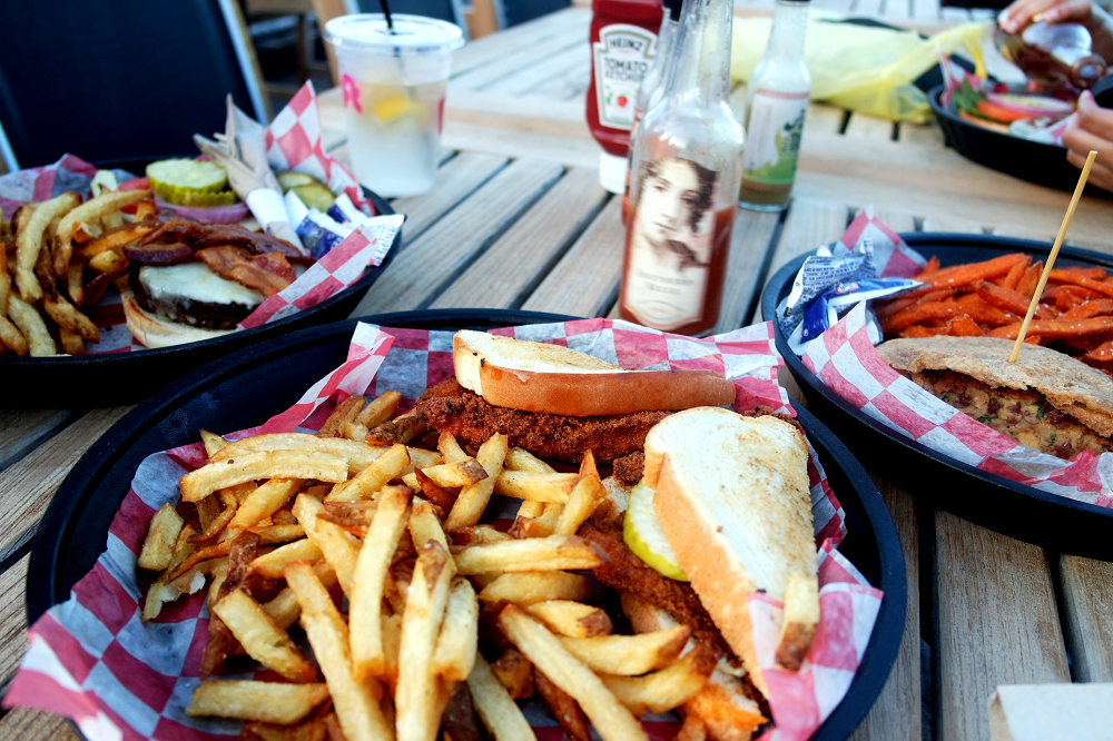 Rule The Roost Chicken Sandwich Acme Nashville Rooftop Bar