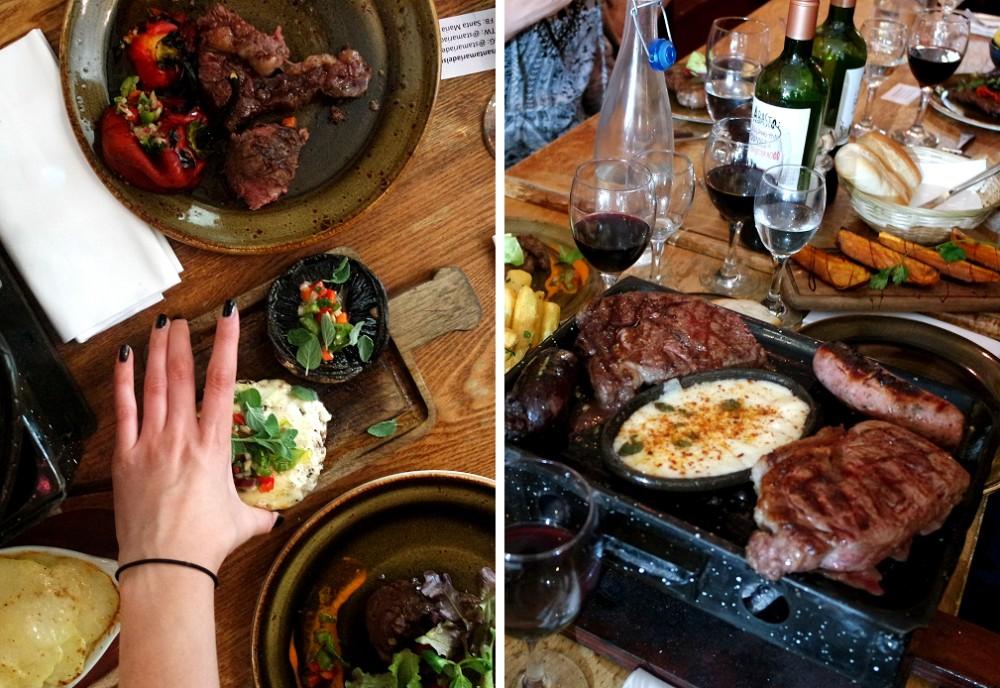 Santa Maria Del Sur Argentinian Restaurant London mains
