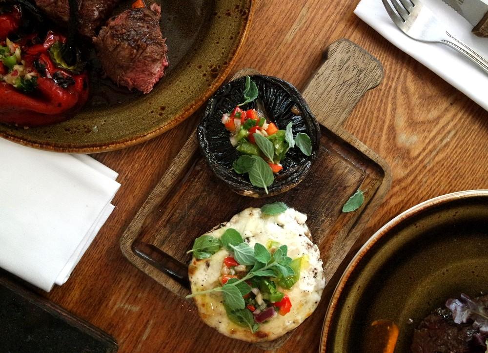 Santa Maria Del Sur Argentinian Restaurant London mushrooms