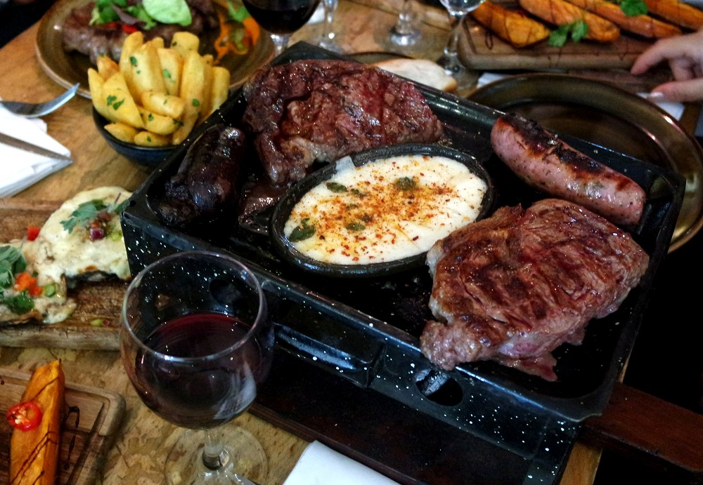 Santa Maria Del Sur Argentinian Restaurant London steak sharer