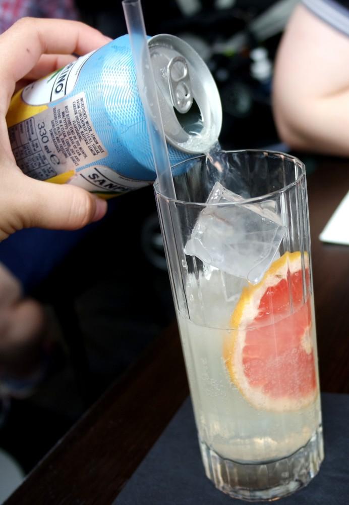Weekend Brunch at Dirty Bones San Pellegrino lemonade