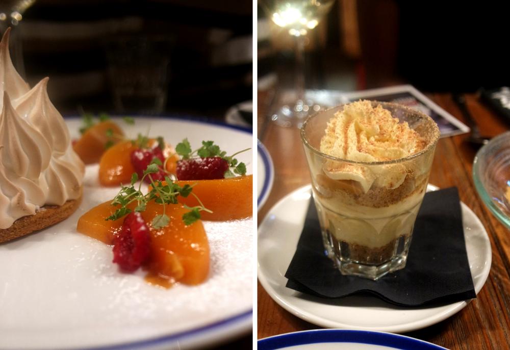 Desserts at Sail Loft pub restaurant, Greenwich, London