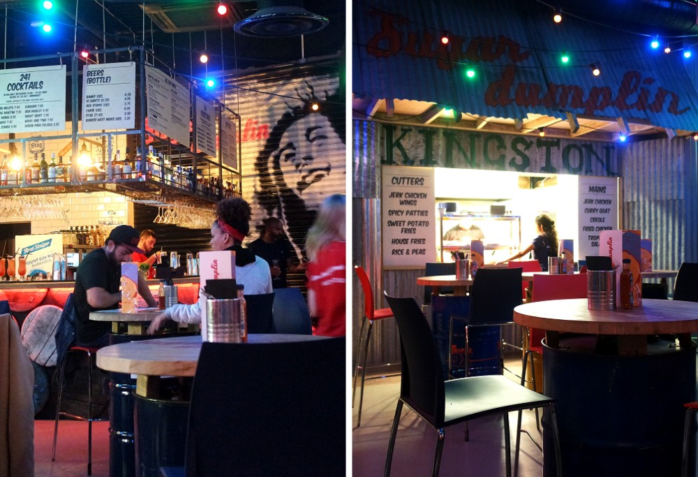 Sugar Dumplin rum shack restaurant Kingston