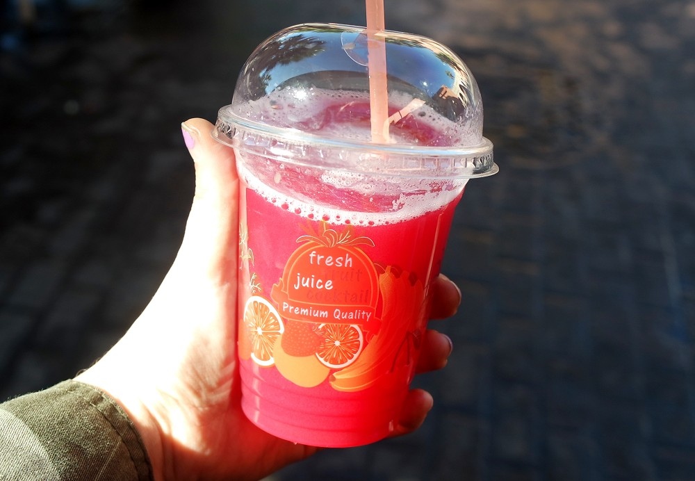 First Time Shopping in a Moroccan Souk: Agadir Souk El Had juice