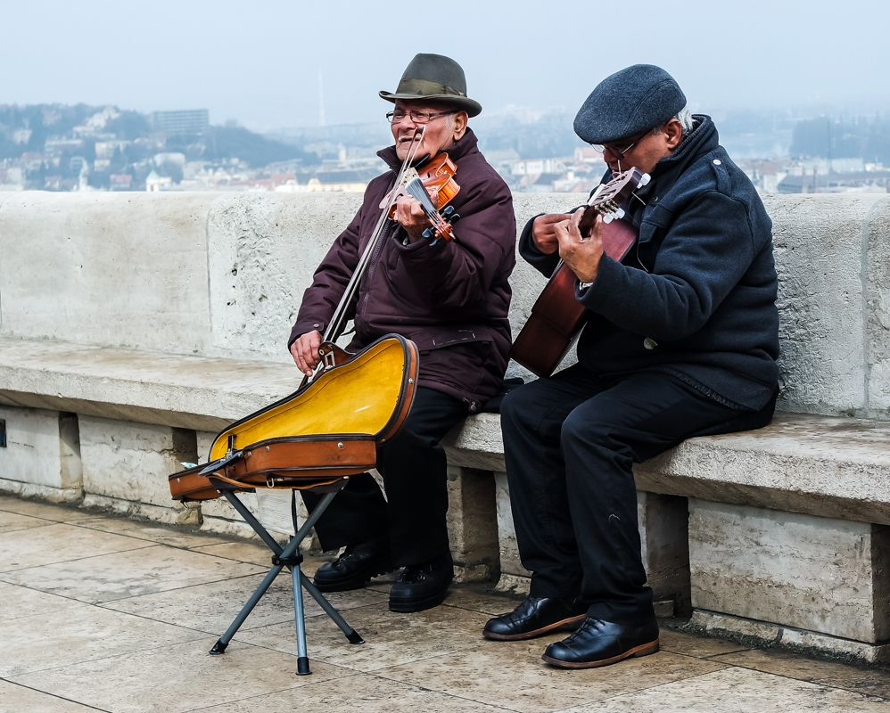 Musicians on Fisherman's Bastion, Budapest