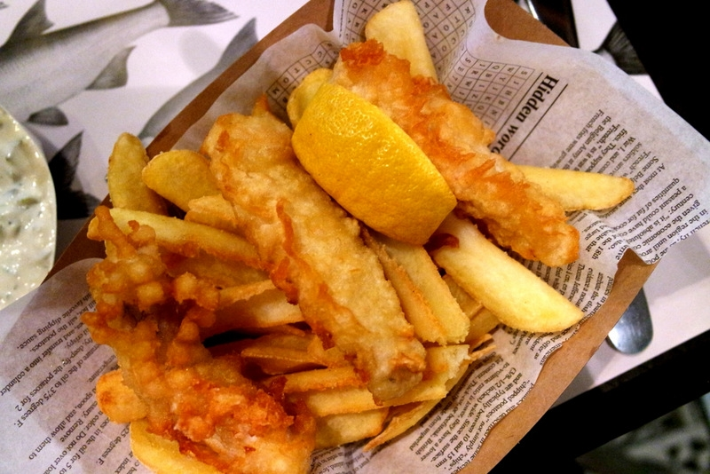 Fish and Chips- cheap food in Budapest
