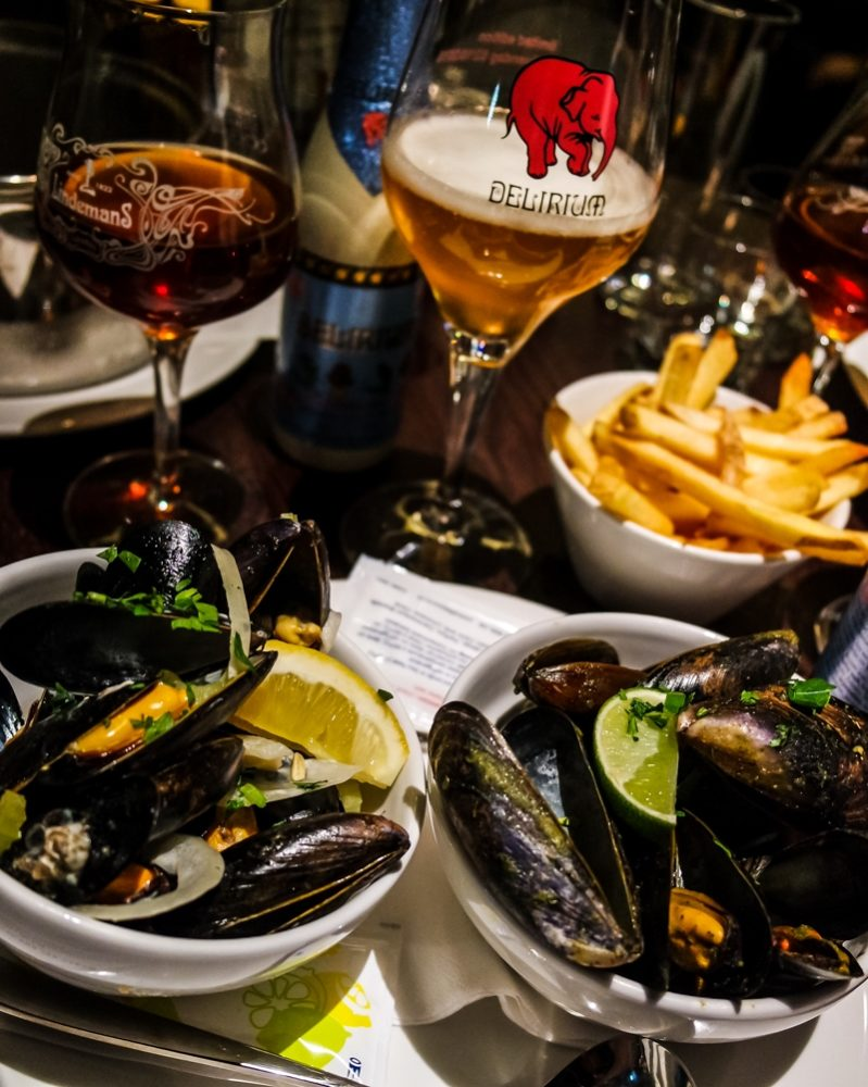 Moules and beers at Belgo King's Cross - Belgian Restaurant in London