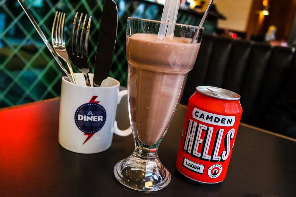 Hard shake and beer at The Diner